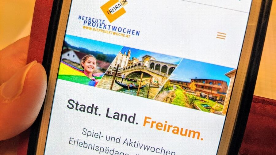 blog neue website freiraum smartphone projekwoche staedtereisen