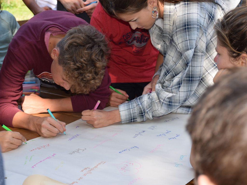 Kennenlerntag Wuensche an die Klasse Projekttage Projektwochen Schullandwochen Freispiel Doris Poetscher Hasslinger